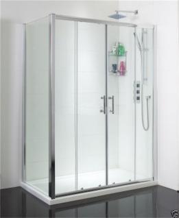 Luxus Duschabtrennung Duschwand Duschtür Nischentür Dusche Alurahmen 120 x 195cm