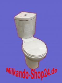 Design Eck Toilette WC Stand komplett Set mit Spülkasten KERAMIK Eckspülkasten