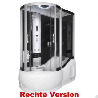 DUSCHTEMPEL FERTIGDUSCHE DUSCHKABINE ECHT GLAS KOMPLETT 151 x 85cm Rechte  - Vorschau 3