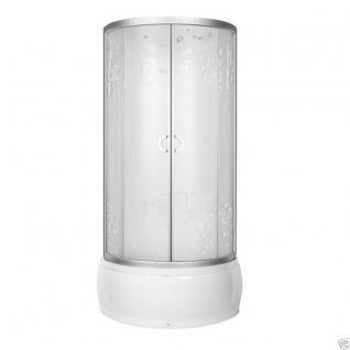 Viertelkreis Dusche Echtglas Duschabtrennung Duschkabine Runddusche Duschwanne B