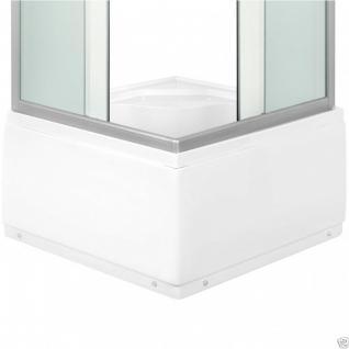 Viertelkreis Dusche Echtglas Duschabtrennung Duschkabine Runddusche Duschwanne G - Vorschau 3