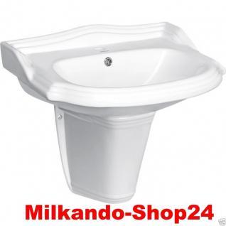 WAND HÄNGE-Waschbecken inkl. Säule KERAMIK Keramik Wc Retro Classic Kr13/Kr14 - Vorschau 1