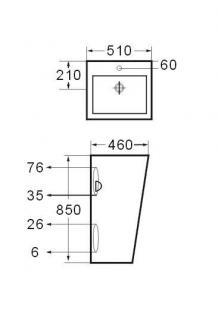 DESIGN WASCHBECKEN STAND WASCHTISCH SÄULE WASCHPLATZ qwer - Vorschau 2