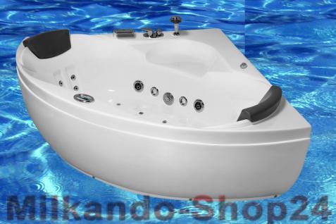 Whirlpool, Indoor, Badewanne, Whirlwanne, Eckwanne, Spa Wanne 130 cm XXL