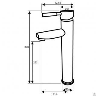 Design Einhandmischer Bad Badezimmer Wasserhahn Chrom Waschtisch Armatur BSC08 - Vorschau 2