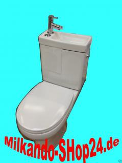 Design Stand Wc komplett set Spülkasten KERAMIK inkl. Waschbecken Gäste WC - Vorschau 1