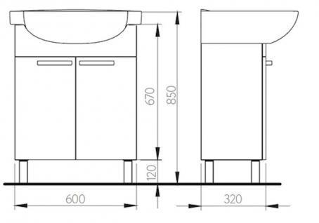waschplatz mit waschbecken g ste wc wb unterschrank waschtisch badm bel kollo fe kaufen bei. Black Bedroom Furniture Sets. Home Design Ideas
