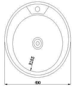 Edelstahl Küchenspüle Rundspüle Waschbecken Einbauspüle Spüle+Zub. Spülbecken - Vorschau 3