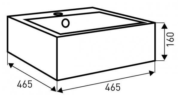Keramik Aufsatzwaschbecken Waschbecken Waschtisch Waschschale - Vorschau 2