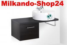 Waschplatz für Waschbecken Gäste WC Aufsatzwaschbecken Waschtisch Badmöbel SANTO