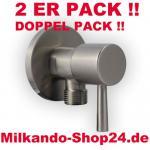 2ER PACK ECKVENTIL 1/2 ZOLL ECKIG RUND + WANDROSETTE ZOSS 1/2 zu 1/2 Zoll