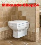 Design WAND HÄNGE-WC KERAMIK Keramik Wc Retro Classic Toilette Softclose Kr16