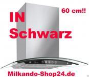 Dunstabzugshaube Wandhaube Edelstahl Abzugshaube Glas Edelstahl 60 cm Schwarz !
