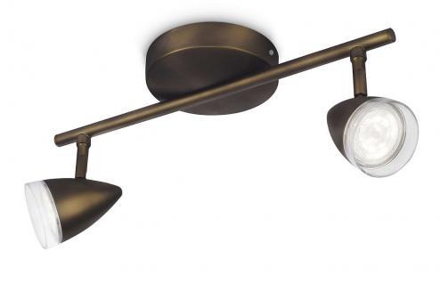 Philips LED Strahler Maple Spot Spotleiste Leuchte Modern Bronze 53212-06-16