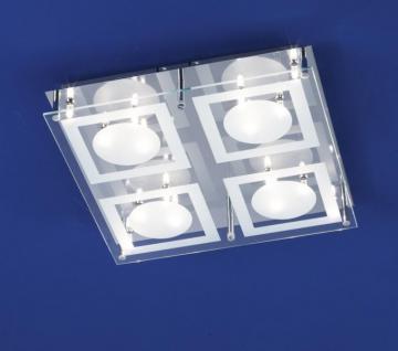 Deckenleuchte Montafon B-Leuchten Halogen Chrom Modern Design