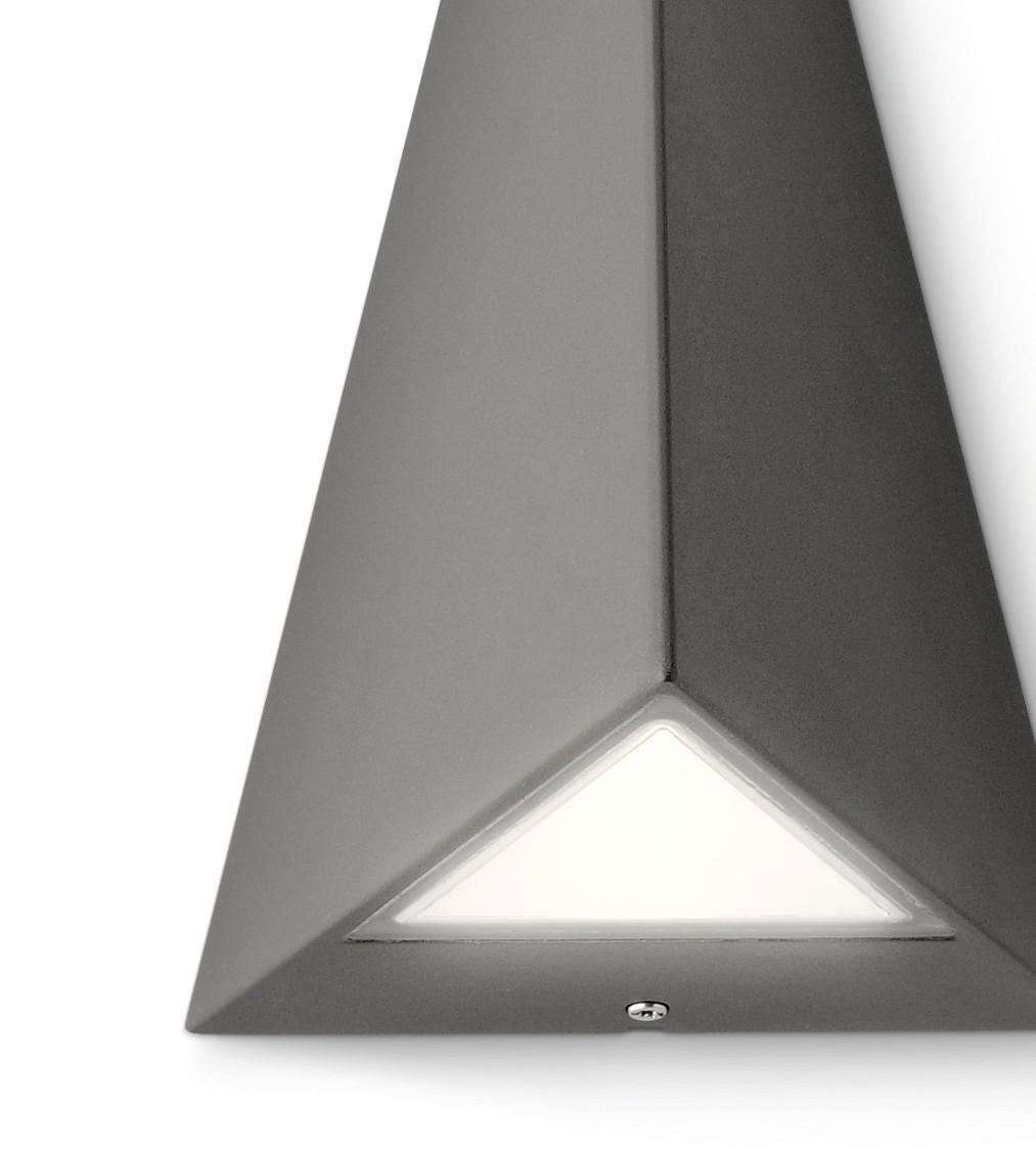 philips led wandau enleuchte hills pyramidenform aussenleuchte anthrazit grau kaufen bei. Black Bedroom Furniture Sets. Home Design Ideas