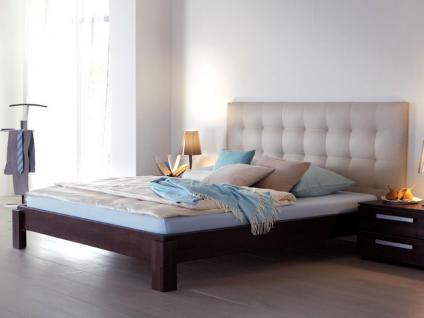 Hasena Wood-Line Classic 16 Amigo Bettrahmen Massivholz mit Wandpaneele Sogno L gepolstert Buche Farben oder Kernesche wählbar