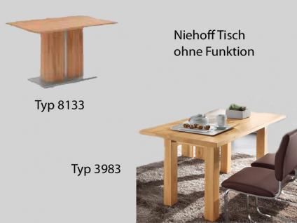 Niehoff Venus Tisch 8133 oder 3983 für Esszimmer Speisezimmer Ausführung wählbar Massiv