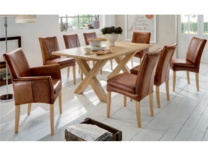 Niehoff Stuhl Rustica für Esszimmer Vintage Leder handgewischt mit oder ohne Armlehnen wählbar