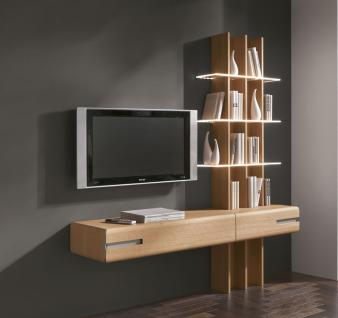 regal tv eiche g nstig sicher kaufen bei yatego. Black Bedroom Furniture Sets. Home Design Ideas