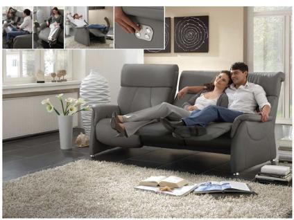 Steinpol Polsteria Magic Relaxx Einzelsofa Sofa Rücken in echt Stoff oder Leder Füße Ausführung Funktion wählbar
