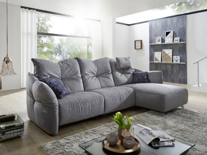 K+W Polstermöbel Paradiso 7212 Ecksofa Sofa 2-sitzig Longchair inklusive Armteil- und Rückenverstellung Couch spiegelverkehrt lieferbar Füße Bezug wählbar