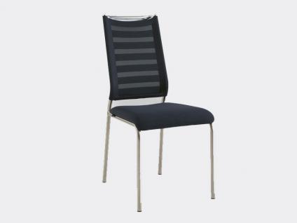 Venjakob AL DENTE Stuhl Lina 2213 ohne Armlehne für Esszimmer Bezug Tritex Stoff oder Leder wählbar