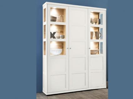 vitrine wei wildeiche online bestellen bei yatego. Black Bedroom Furniture Sets. Home Design Ideas