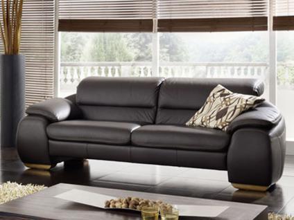 K+W Barny 7414 Polstergarnitur KW Möbel hochwertiges Sofa Couch Einzelsofa für Ihr Wohnzimmer in Leder oder Stoff wählbar