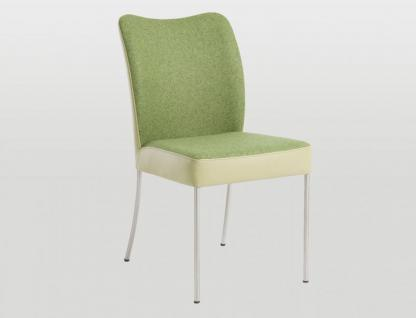 Bert Plantagie Duo Polsterstuhl mit Bi-Color Polsterung Stuhl für Esszimmer Gestellausführung und Bezug in Leder oder Stoff wählbar