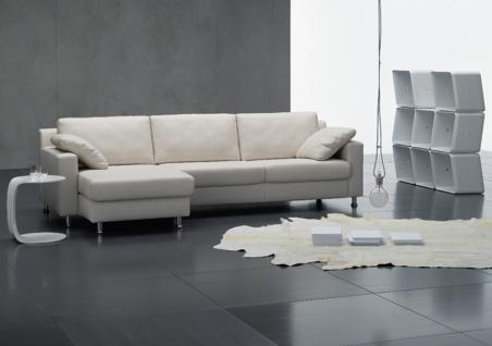 Ewald Schillig Brand Sofa FlexPlus Sofagarnitur 1x Longchair mit AL + 1xSofa 2sitzig AL + 2x Kissen