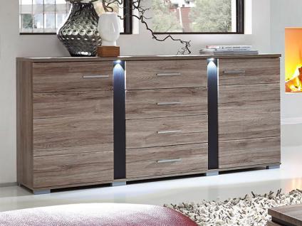 Kommode Eiche Sonoma Dunkel: Sideboard steen kommode wohnzimmer ...