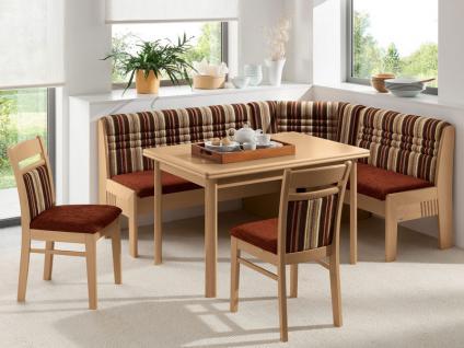 Wössner Eckbankgruppe Florida Essgruppe in Buche natur 4-teilig Eckank mit Truhe Bank Stuhl Esstisch Tisch mit 2 Auszügen