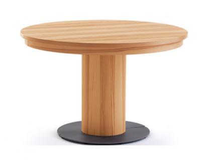 Venjakob Esstisch ET 558 Tisch rund furnierte Platte 120 x 120 cm Unterbau geölt furniert mit Einlage Tisch in verschiedenen Ausführungen