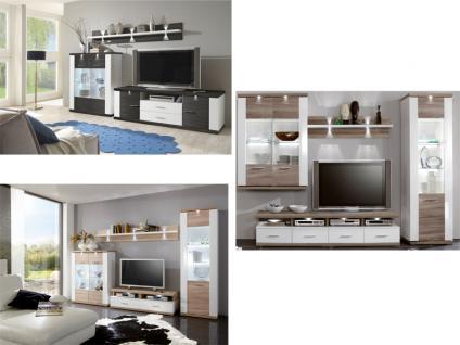 IDEAL-Möbel Wohnwand Manhattan Kombination Anbauwand in verschiedenen Ausführungen für Wohnzimmer wählbar