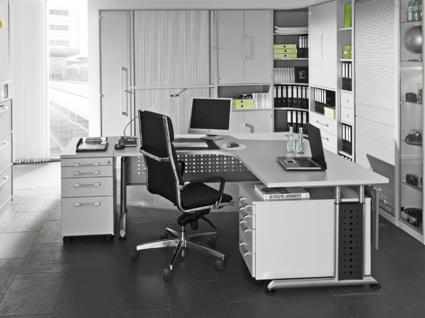 Wellemöbel Büromöbel Hyper Büro Welle Möbel Eckschreibtisch 3-teilig Ausführung wählbar