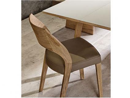 Voglauer V Montana Stuhl SEHP55 stapelbar V-Montana Polsterstuhl Wildeiche geölt Sitz gepolstert Bezug in Leder wählbar Rückenlehne Holz