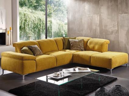Kiss 7050 K+W Polstermöbel für Wohnzimmer Sofa 2-sitzig Sofaecke Fußausführung und Bezug wählbar