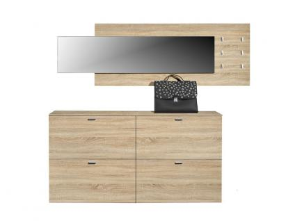 arte m programm garderoben garderobe 3 teilig schuhschrank h ngend f r flur dekor eiche. Black Bedroom Furniture Sets. Home Design Ideas