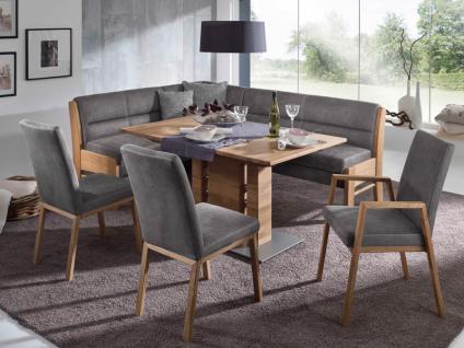 K+W Polstermöbel 4105 Silaxx Goby Essgruppe KW Möbel mit Tisch, Eckbank und Stühlen hochwertige Sitzgruppe in Leder Longlife oder Stoff