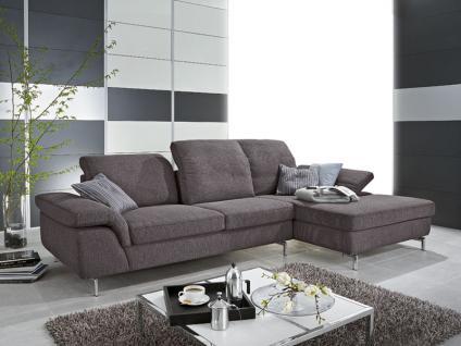 2 Sofa Mit Sitztiefenverstellung Longchair Fuer Ihr Wohnzimmer In Stoff