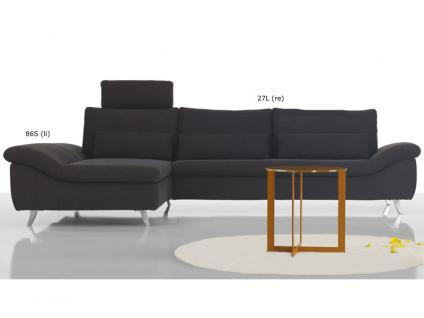 Ewald Schillig Dragon Ecksofa Clubchair + Sofa 2 Sitzer Armlehne inkl.3 Kissen für Wohnzimmer in Stoff oder Leder wählbar