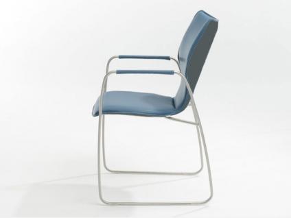 Bert Plantagie Stuhl Joni 721 Schlittengestell Bi-Color-Polsterung Polsterstuhl für Esszimmer Esszimmerstuhl Gestellausführung und Bezug in Leder oder Stoff wählbar