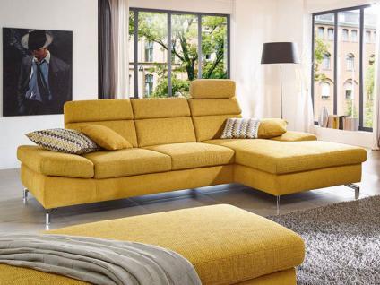 K+W Möbel Spirit 7082 Ecksofa Sofagarnitur Sofa 2-Sitzer und Longchair mit Polstergarnitur Sitz mit Boxspring Couch für Wohnzimmer Sofa in Bezug Stoff oder Leder wählbar