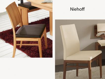 Niehoff Stuhl 1941 oder 6261 Massiv für Esszimmer Speisezimmer Ausführung Kunstleder Leder wählbar