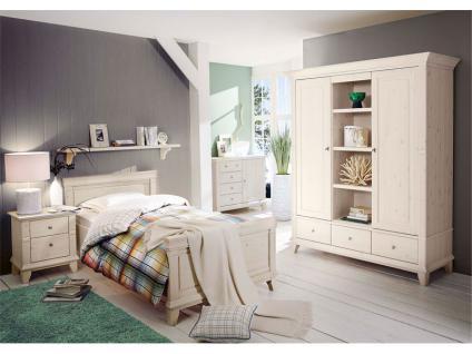 schlafzimmer komplett casa landhausstil pinie weiss kaufen, Schlafzimmer ideen