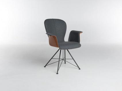 Bert Plantagie Blake Spin mit Bi-Color-Polsterung und Armlehnen Stuhl 633A für Esszimmer Esszimmerstuhl Gestellausführung und Bezug in Leder oder Stoff wählbar