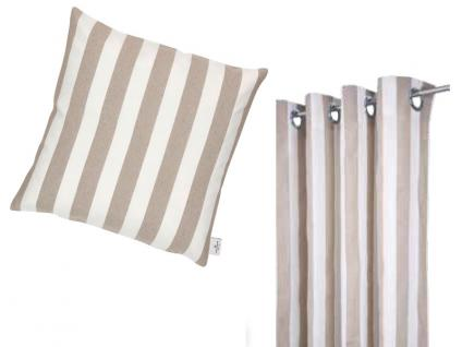 Tom Tailor Heimtextilien wunderschöne Kissenhülle Block Stripes mit breiten Längsstreifen in natürlicher Farbgebung, gegen Aufpreis Füllung im Angebot wählbar