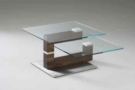couchtisch glas drehbar