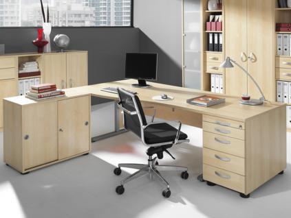Wellemöbel Büromöbel JOBexpress Büro Welle Möbel Schreibtisch 3-teilig Ausführung wählbar